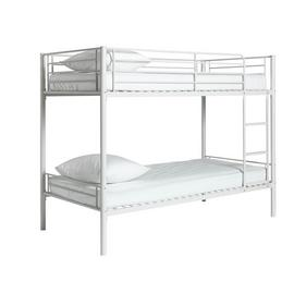 Argos Home Mason White Metal Bunk Bed & 2 Kids Mattresses