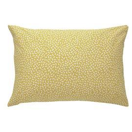 Habitat Betsy Reversible  Standard Pillowcase Pair - Yellow