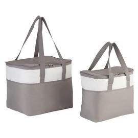 Argos Home Pack of 2 Grey Cool Bags - 22L and 8L