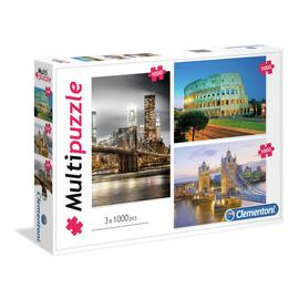 Clementoni 1000 Piece City Mega Jigsaw Puzzle - Set of 3