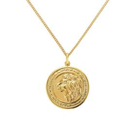Revere 9ct Gold Plated Silver Lion Coin Pendant