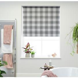 Habitat Textured Block Check Blackout Roller Blind