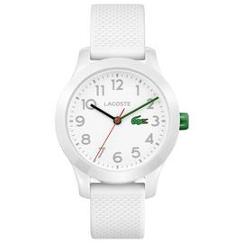 Lacoste Unisex Childrens White Silicone Strap Watch
