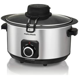 Morphy Richards 6.5L Auto-Stir Slow Cooker - Stainless Steel