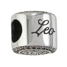 Moon & Back Sterling Silver Zodiac Charm - Leo