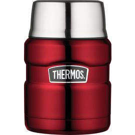 Thermos Stainless King Red Food Flask - 470ml