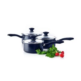 Green Chef 3 Piece Non Stick Pan Set - Black