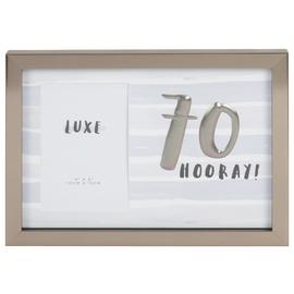 Hotchpotch Luxe 70th Birthday Photo Frame - Grey