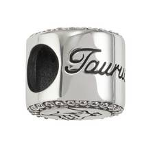 Moon & Back Sterling Silver Zodiac Charm - Taurus