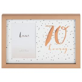 Hotchpotch Luxe 70th Birthday Photo Frame - Rose Gold