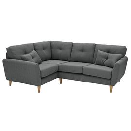 Argos Home Kari Left Corner Fabric Sofa - Charcoal