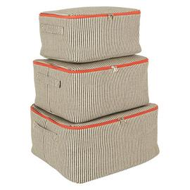 Habitat Jericho Set of 3 Storage Trunks - Stripe