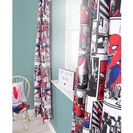 Disney Ultimate Spider-Man Unlined Pencil Pleat Curtains