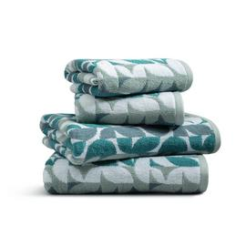 Habitat 4 Piece Geo Towel Bale - Blue