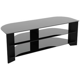 AVF Wood Effect Up To 65 Inch TV Corner Stand - Black