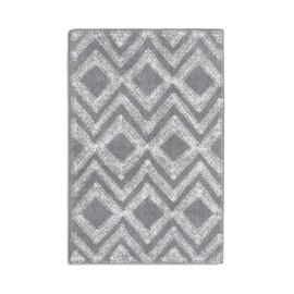 Habitat Cotton Diamond Geo Bath Mat - Grey