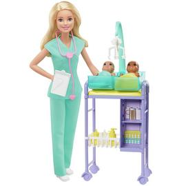 Barbie Careers Baby Doctor Doll and Playset