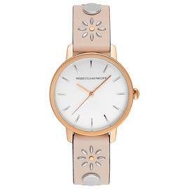 Rebecca Minkoff Ladies Pink Floral Leather Strap Watch