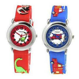 Constant Multicoloured Plastic Strap Set of 2 Boys Watch Set