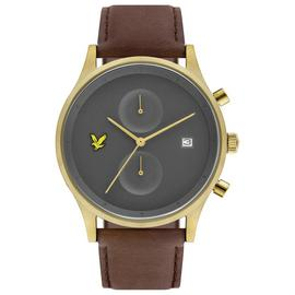 Lyle and Scott Men's Brown Leather Strap Watch