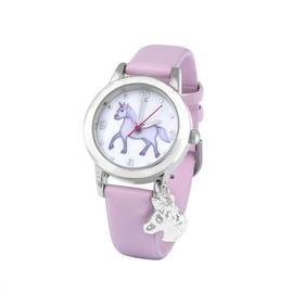 Emoji Unicorn Faux Leather Strap Watch