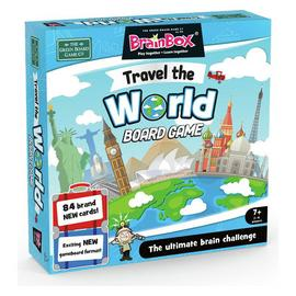 BrainBox Travel The World Large Quiz Game