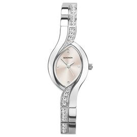 Sekonda Ladies Silver Coloured Oval Twist Bracelet Watch