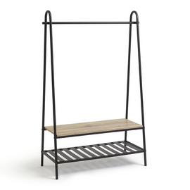 Habitat Turner Clothes Rail with Shoe Rack - Black