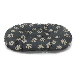 Paw Print Fleece Oval Cushion - Small