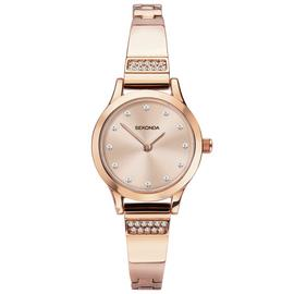 Sekonda Ladies Rose Gold Coloured Bracelet Watch