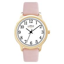 Limit Ladies Pink Faux Leather Strap Watch