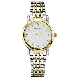 Bulova Ladies Gold and Silver Bracelet Strap Watch