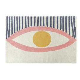 Habitat Eyes Wool Rug - 120x180cm - Multicoloured
