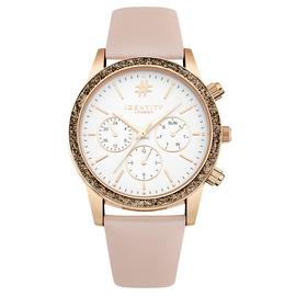 Identity London Ladies Pink Faux Leathet Strap Watch