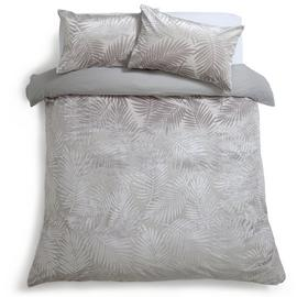 Habitat Velvet Feather Grey Bedding Set - Superking