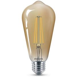 Philips LED Filament E27 8W (50W) Dimmable Light Bulb - Gold