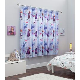 Disney Frozen 2 Unlined Pencil Pleat Curtains