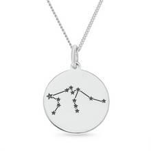 Revere Sterling Silver Star Sign Pendant - Aquarius