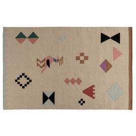Habitat Lora Flatweave Wool - 140 x 200cm - Multicoloured