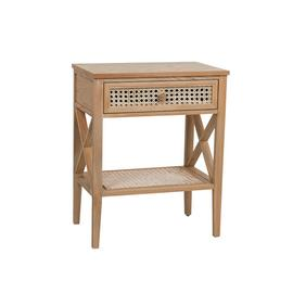 Habitat Mornington 1 Drawer Bedside Table - Oak