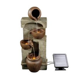 Peaktop PT-SF0001 Solar Powered Wall Fountain