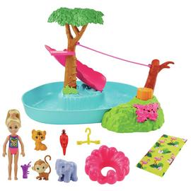 Barbie and Chelsea The Lost Birthday Pool Surprise Playset