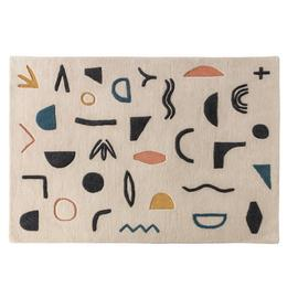 Habitat Symbols Patterned Rug - 140 x 200cm - Multicoloured