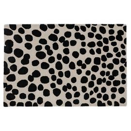 Habitat Cheetah Spotted Wool Rug - 120x180cm - Black & White