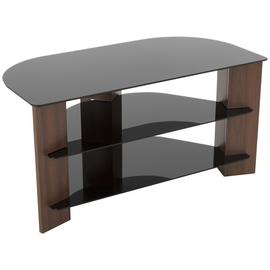 AVF Up To 42 Inch TV Stand - Black Glass and Walnut Effect
