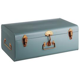 Habitat Trunk Large Metal Storage Box - Blue