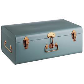 Habitat Trunk Large Metal Storage Box - Blue