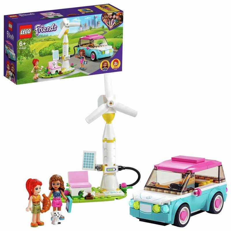 LEGO Friends Olivia's Electric Car Toy Eco Playset 41443 from Argos