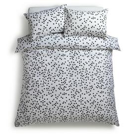 Habitat Penny Black Mini Dot Bedding Set - Superking