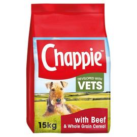 Chappie Complete Dry Food Beef and Wholegrain Cereal 15kg